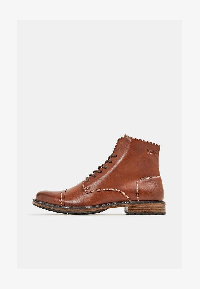 N LEDER-OPTIK - Lace-up ankle boots - toffee