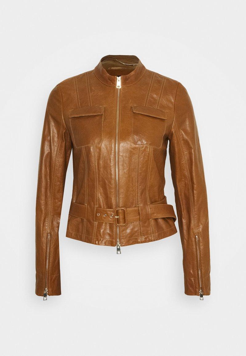Marc Cain - Leather jacket - creme caramel