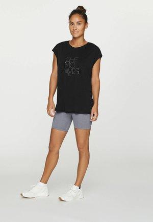MIT AUFSCHRIFT - Print T-shirt - black