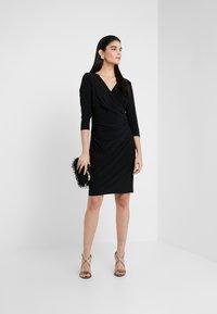 Lauren Ralph Lauren - MID WEIGHT DRESS - Jersey dress - black - 1
