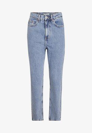 CACHE CACHE MOM-JEANS MIT HOHEM BUND - Slim fit jeans - denim bleach