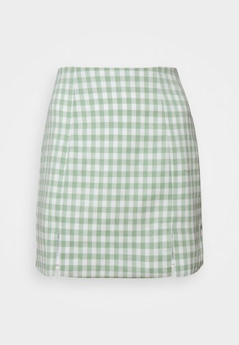 MAYA HIGH WAISTED MINI SKIRT WITH FRONT SIDE SPLITS