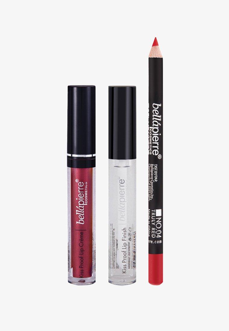 bellápierre - METALLIC KISS PROOF SLAY KIT - Palette pour les lèvres - red-esque