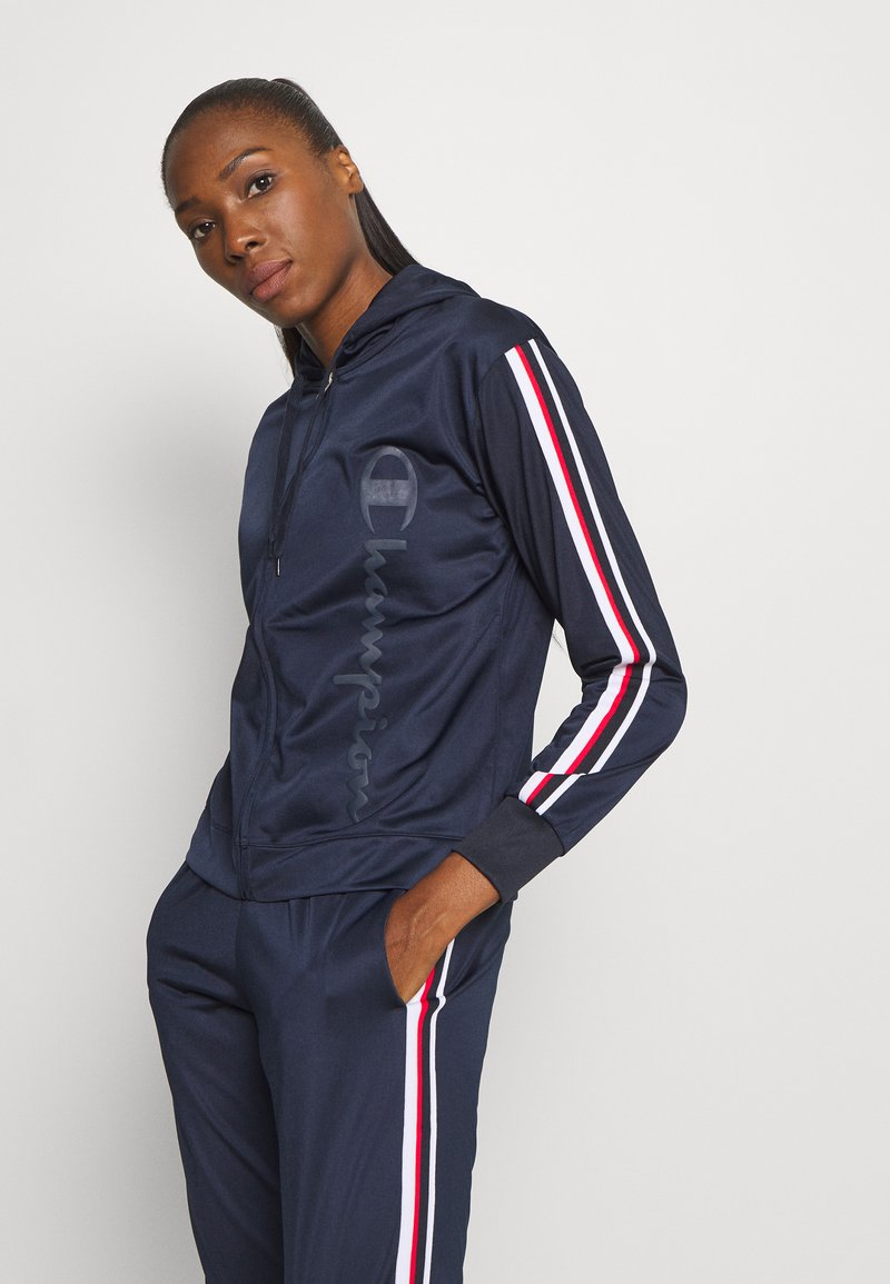 Champion - HOODED FULL ZIP SUIT LEGACY - Tracksuit - dark blue