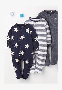 Next - 3 Pack - Sleep suit - blue - 0