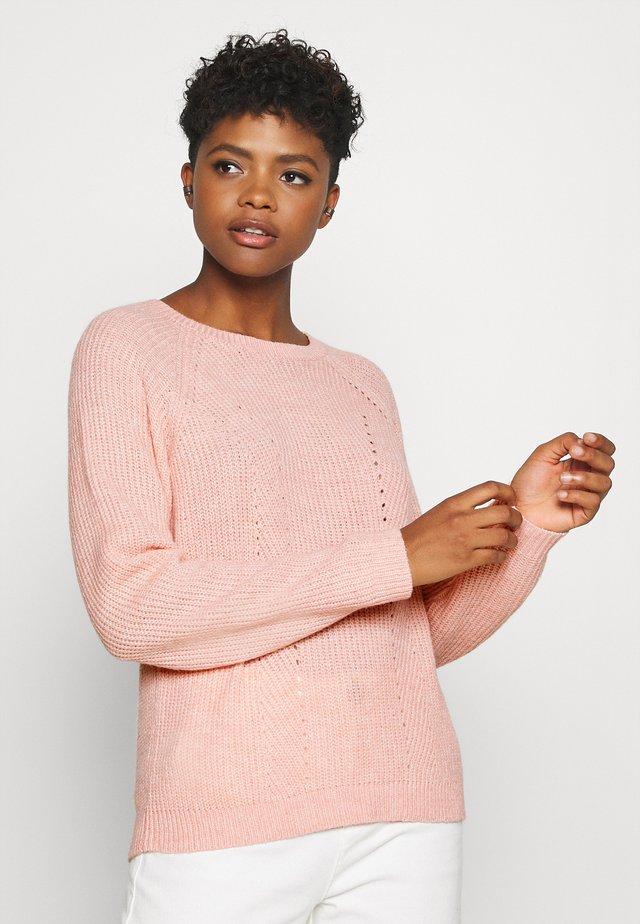 VISURIL O-NECK  - Sweter - misty rose
