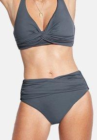 Seafolly - HIGH WAIST WRAP FRONT PANT - Bikini bottoms - granite - 1