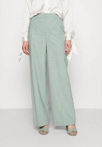 Gestuz - AMALIGZ WIDE PANTS - Trousers - slate gray - 0