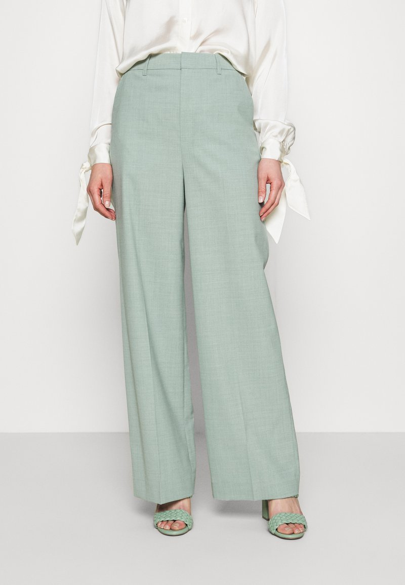 Gestuz - AMALIGZ WIDE PANTS - Pantaloni - slate gray