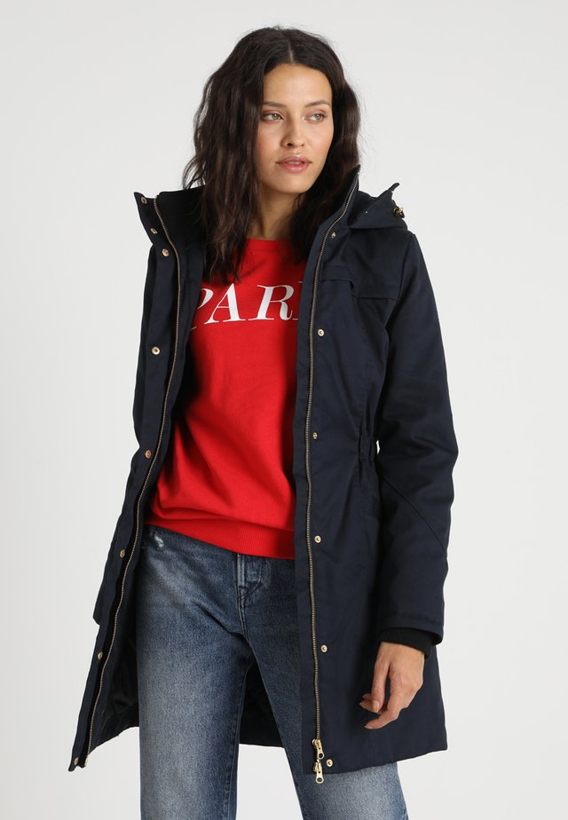 FRIDA TRIM JACKET - Halflange jas - navy noir