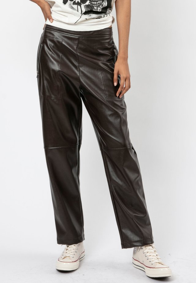 DESTINATION  - Trousers - chocolate brown