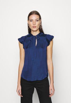 FLUTTER SLEEVE TIE NECK SOLIDS - Basic T-shirt - blue raven