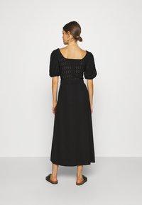 Object Tall - OBJCELIA LONG SKIRT TALL - Maxi skirt - black - 2