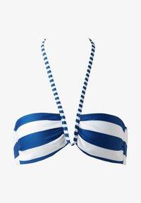 Calzedonia - MIT WATTIERUNG SANTORINI - Bikini top - hyper blue/bianco - 3