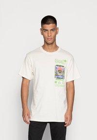 HUF - EMERGENCY SYSTEM - T-shirt imprimé - natural - 0