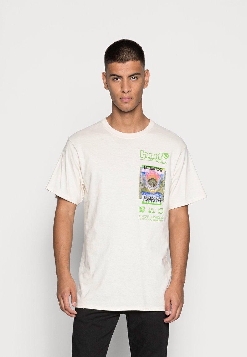 HUF - EMERGENCY SYSTEM - T-shirt imprimé - natural