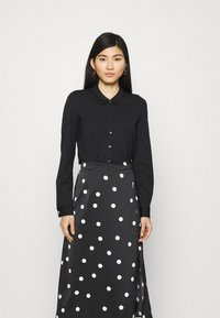 comma - LANGARM - Button-down blouse - black - 0