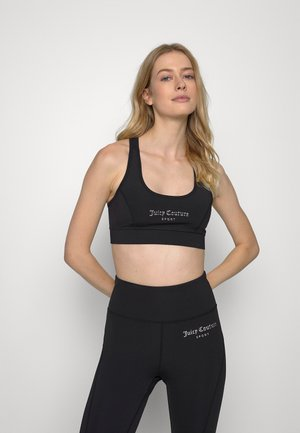 STELLA SPORTS BRA - Medium support sports bra - black