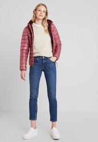 TOM TAILOR DENIM - HOODED PUFFER - Winter jacket - renaissance rose/red - 1