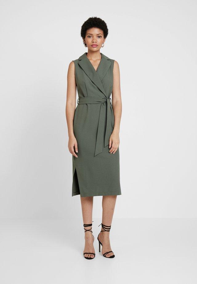 CLOSET COLLARED PENCIL DRESS - Sukienka etui - khaki