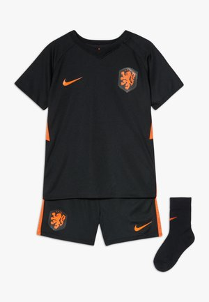 NIEDERLANDE KNVB I NK BRT KIT AW SET - Sportovní kraťasy - black/safety orange