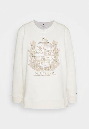 REGULAR ROUND CREST LONGLINE - Sweatshirt - ecru