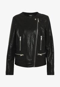 DKNY - MOTO JACKET - Faux leather jacket - black - 3