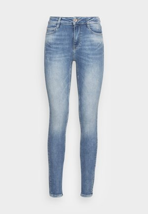 BETTIE CROPPED - Jeans slim fit - middle blue