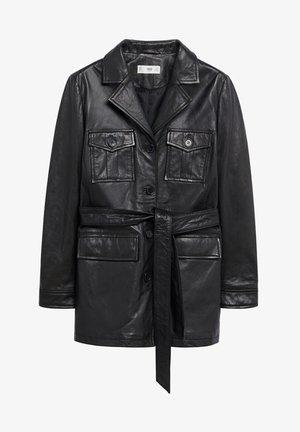 Kožená bunda - schwarz