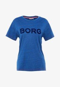 Björn Borg - LOOSE TEE - Triko spotiskem - denim washed - 3