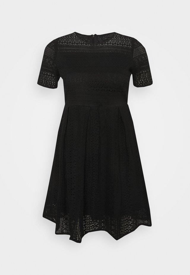 VMHONEY LACE PLEATED DRESS  - Day dress - black