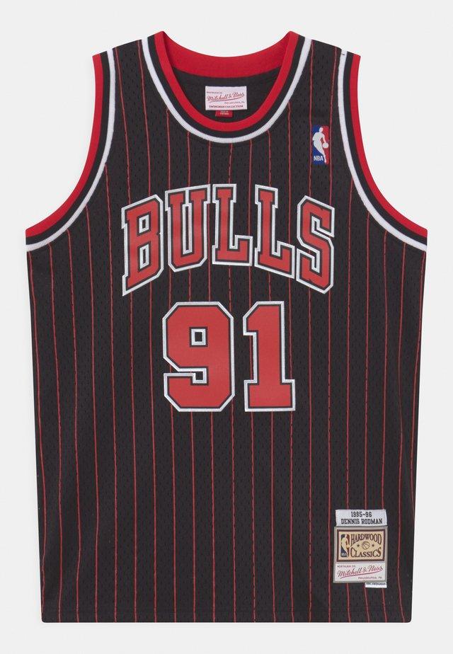 NBA CHICAGO BULLS DENNIS RODMAN UNISEX - Klubtrøjer - black