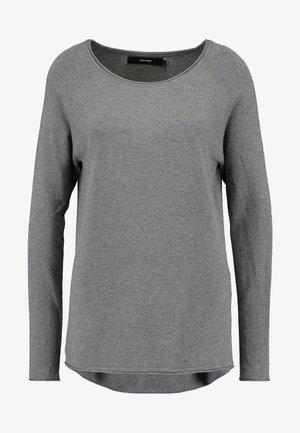 VMNELLIE GLORY LONG - Jumper - medium grey