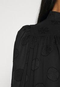 Missguided - HIGH NECK FRILL HEM DRESS - Day dress - black - 5