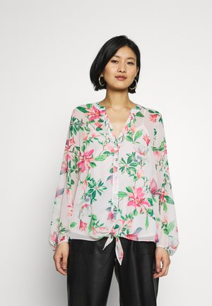 WATERLILY FLORAL TIE FRONT SHIRT - Camicetta - pink