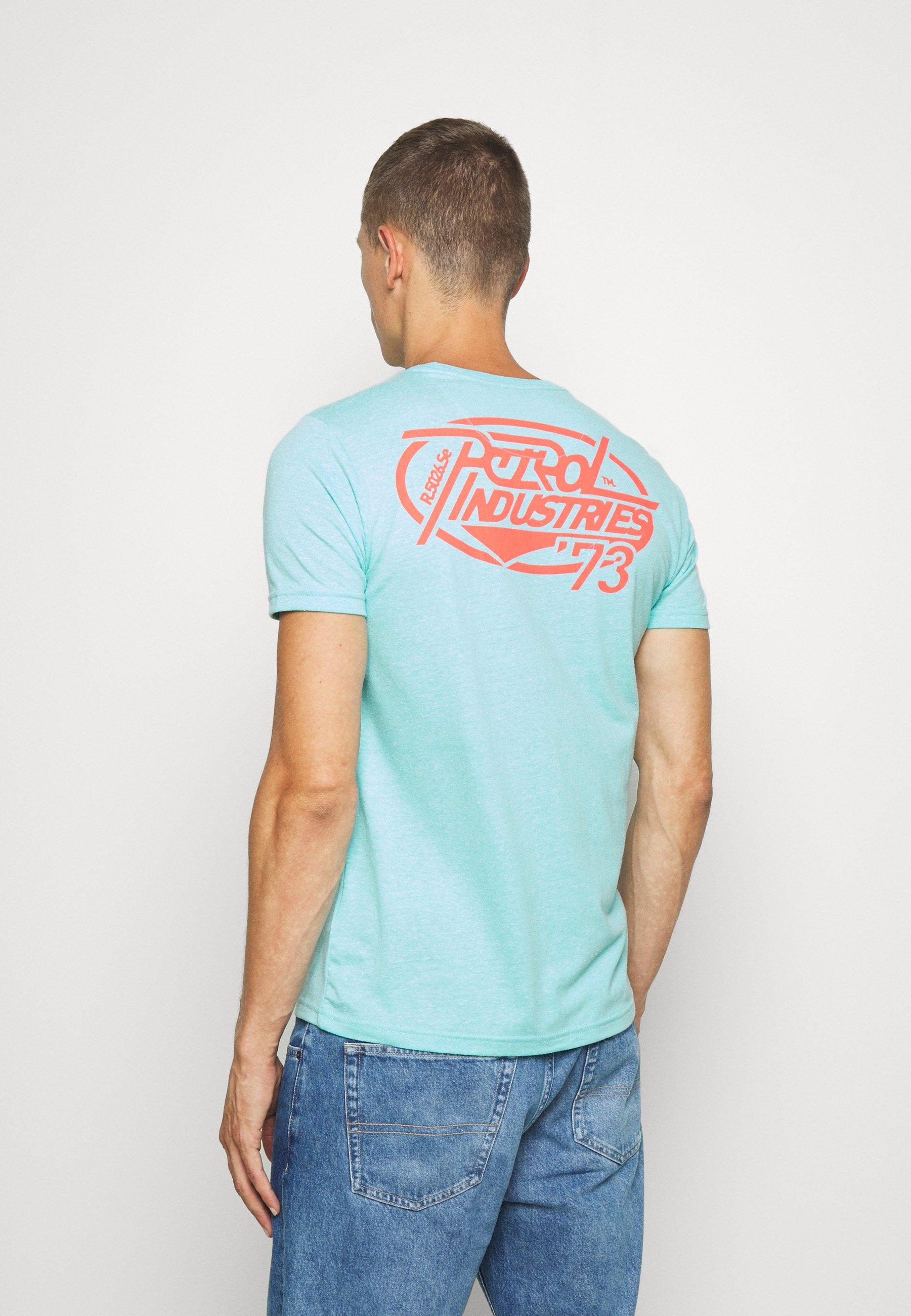 Petrol Industries SPEZIAL - Print T-shirt - light sea green UxIKe