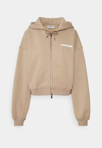 WRSTBHVR - CORBY HOODED ZIP WOMEN - Zip-up sweatshirt - roasted beige - 1