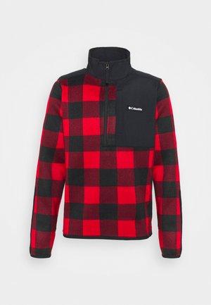 WEATHER™ HALF ZIP - Fleecetröja - mountain red/black