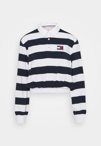 Tommy Jeans - STRIPED RUGBY - Polo - twilight navy - 4