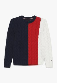 Tommy Hilfiger - CABLE COLORBLOCK  - Strikpullover /Striktrøjer - blue - 0