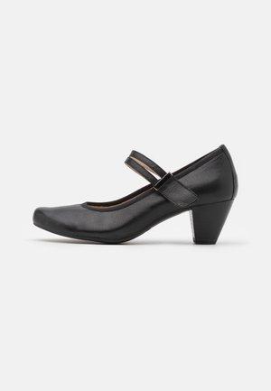 SLIP ON - Tacones - black