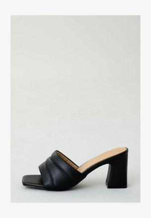 Heeled mules - schwarz