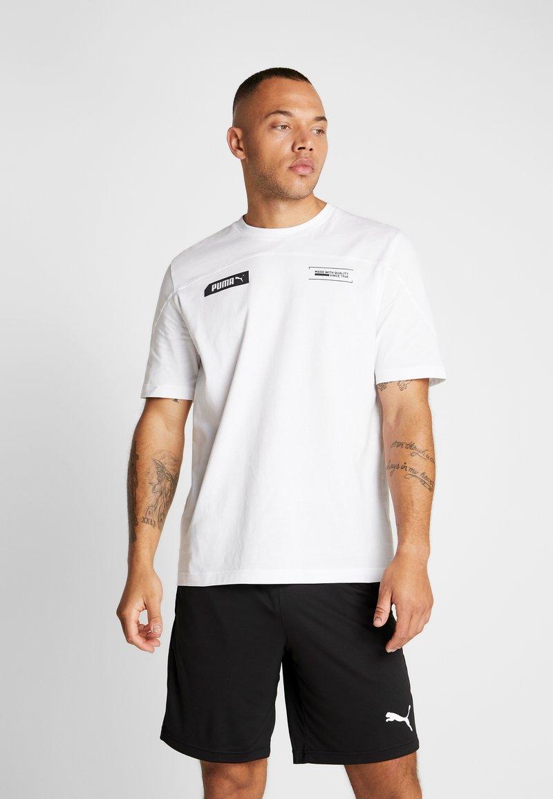 Puma - TEE - Print T-shirt - puma white