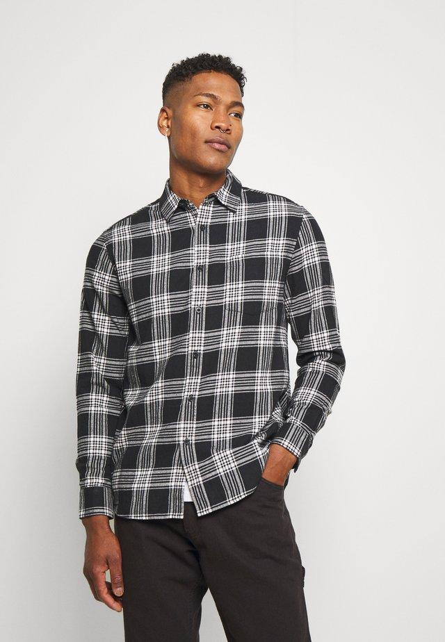 CHECK - Shirt - black/white