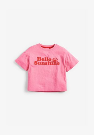 HELLO SUNSHINE - Print T-shirt - pink