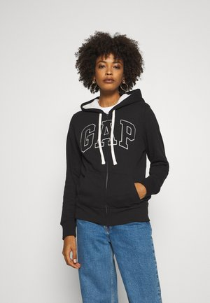 Zip-up hoodie - true black