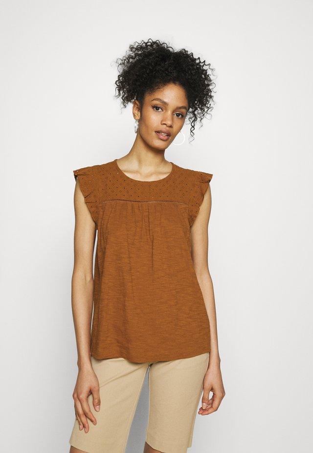 MIX - T-shirt con stampa - caramel