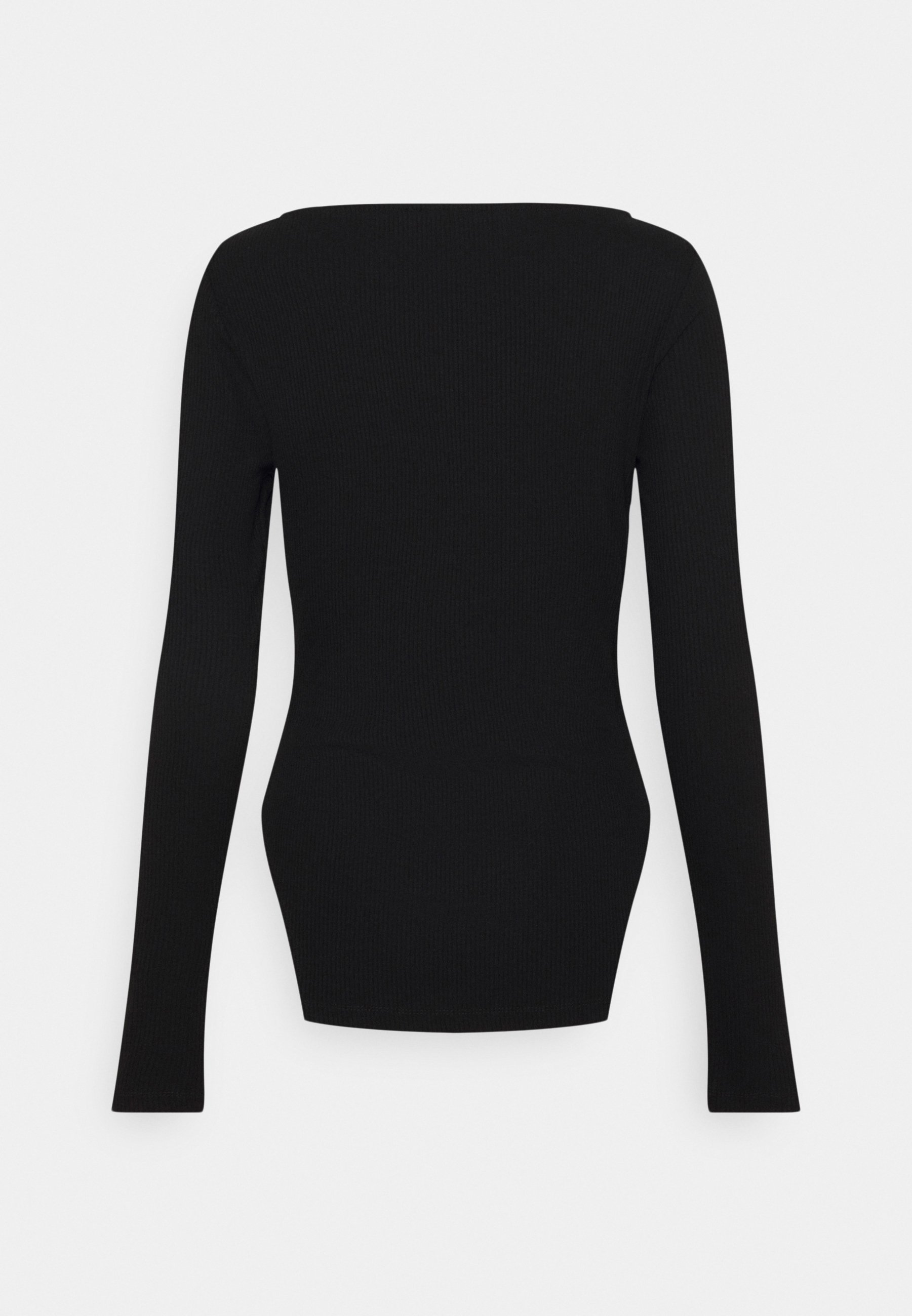 Women SQUARE NECK SLIT TOP - Long sleeved top
