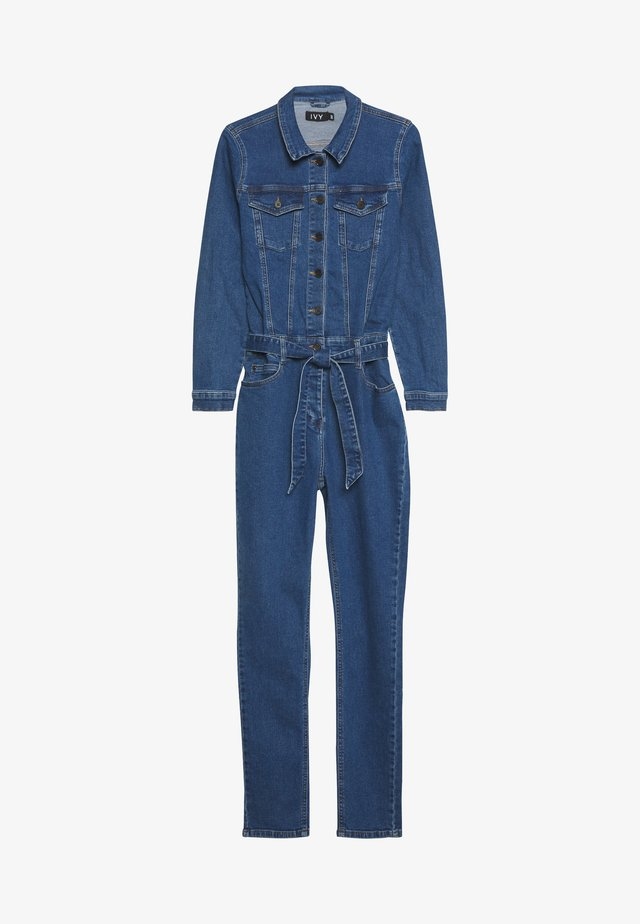 FREJA SUIT DARK MEMPHIS - Jumpsuit - denim blue