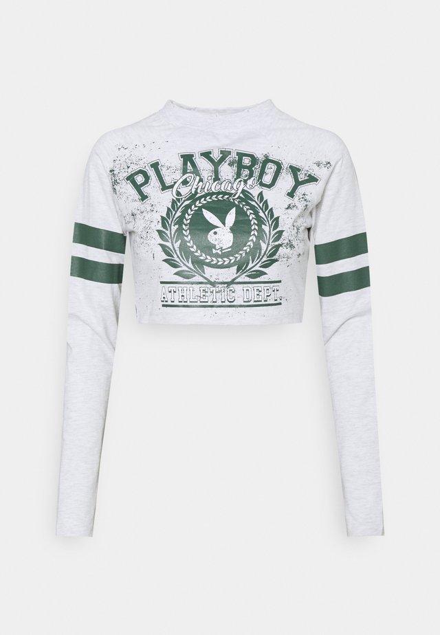 PLAYBOY VARSITY GRAPHIC CROP - Camiseta de manga larga - grey marl